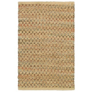 LNR Home Natural Fiber Dark Rust Rectangle Plush Indoor Area Rug (7'9 x 9'9)