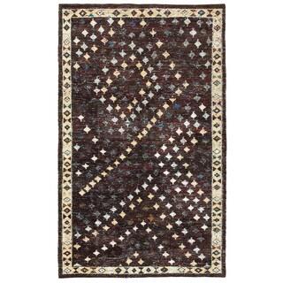 Contemporary Nisha Brown Rectangle Rug (10' x 14')