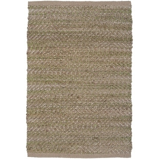LNR Home Natural Fiber Lt Green Rectangle Plush Indoor Area Rug (7'9 x 9'9)