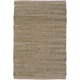 LNR Home Natural Fiber Lt Green Rectangle Plush Indoor Area Rug (5'3 x 7'5)