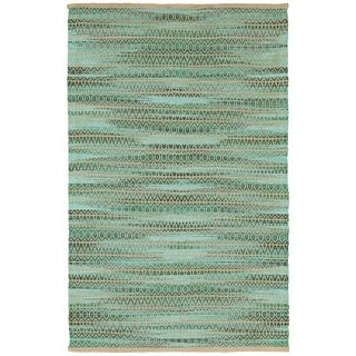 FlatWeave Natural Fiber Green Rectangle (7'9 x 9'9)