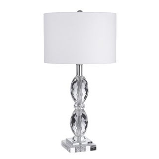 Faceted Crystal Table Lamp with Shade