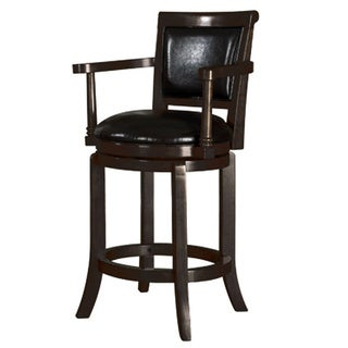 Manchester High Swivel 24-inch Counter Stool in Classic Espresso Finish