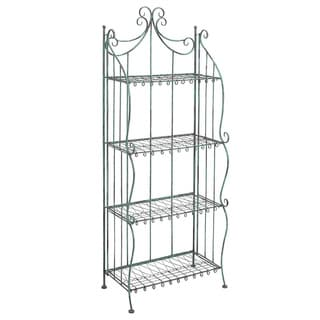 Black Metal 4-shelf Bakers Rack