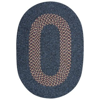 Liberty Collection Heathered Blue Band Multi Area Rug (3'6 x 5'6)