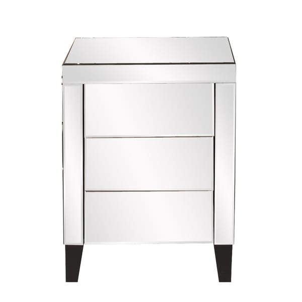 Mirrored Small 3-drawer Dresser
