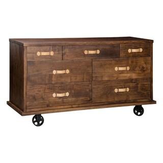 Oaktown Wide Dresser Distressed Walnut