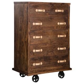 Oaktown Distressed Walnut Tall Dresser