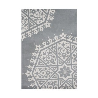 Alliyah Handmade Grey New Zealand Blended Wool Rug (9' x 12')