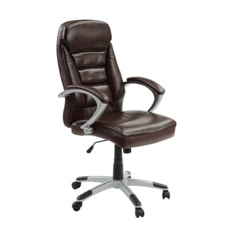 InnovEx Excelsus Brown High Back Office Chair