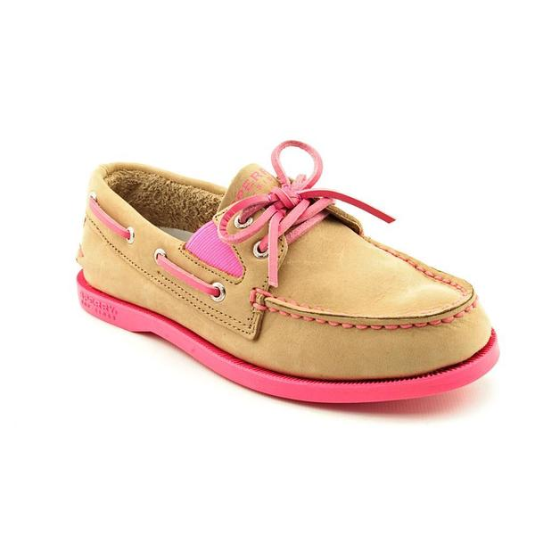 Sperry Top Sider Girl (Youth) 'A/o Gore Linen' Leather Casual Shoes (Size 4 )