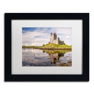 Pierre Leclerc 'Dunguaire Castle Ireland' Framed Matted Art