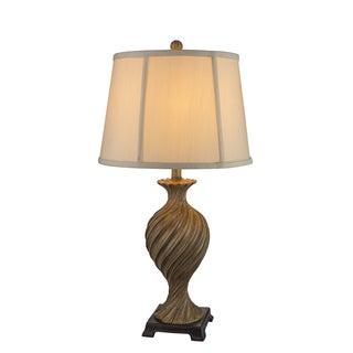Fangio Lightings #6194 30-inch Antique Ivory Resin Table Lamp