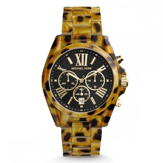 Michael Kors Women's MK5904 'Bradshaw' Cheetah Watch
