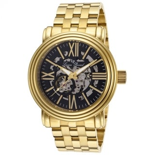 Lucien Piccard Women's LP-11912-YG-11 Domineer Black Skeletonized Goldtone Watch