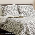 Fontanna Damask 3-piece Cotton Quilt Set
