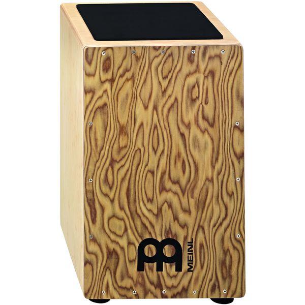 Meinl Percussion CAJ3MB-M Makah Burl Front Plate String Cajon