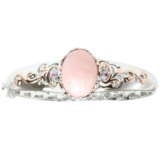 Michael Valitutti Two-tone Pink Opal and Pink and White Sapphire Bracelet