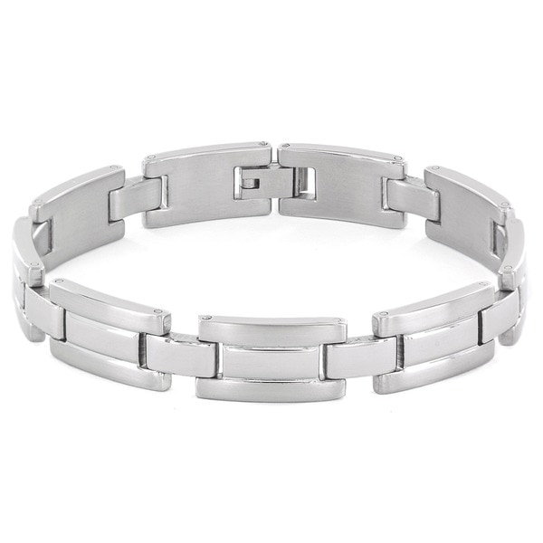 Crucible Stainless Steel Brushed and Polished Bracelet