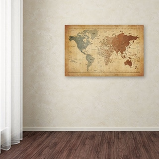 Michael Tompsett 'Time Zones Map of the World' Canvas Art