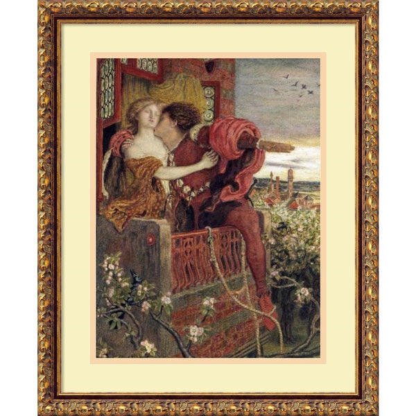 Ford Madox Brown 'Romeo and Juliet' Framed Art Print 18 x 22-inch