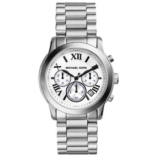 Michael Kors Women's MK5928 'Cooper' Silvertone Chronograph Watch