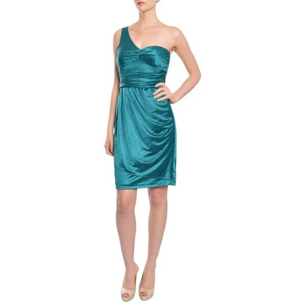Suzi Chin Women's Sleek One Shoulder Cocktail Evening Dress