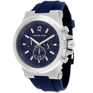 Michael Kors Men's MK8303 Dylan Blue Dial Blue Rubber Watch