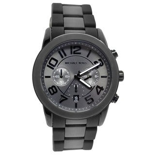 Michael Kors Men's MK8322 'Mercer' Black Chronograph Watch