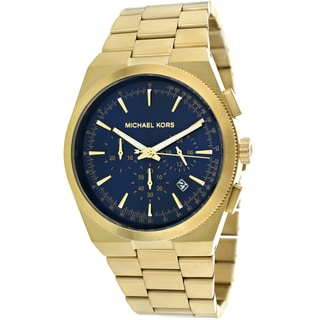 Michael Kors Men's MK8338 'Channing' Gold/ Navy Chronograph Watch