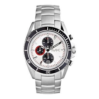 Michael Kors Men's MK8339 'Lansing' Chronograph Silvertone Watch
