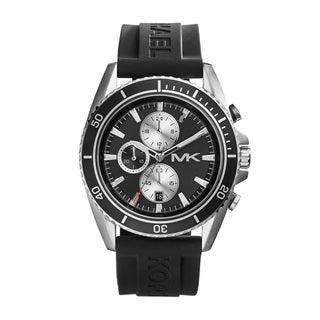 Michael KorsMK8355 Lansing Chronograph Black Dial Black Silicone Watch