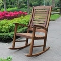 International Caravan Trinindad Acacia Porch Rocker with Oil Finish