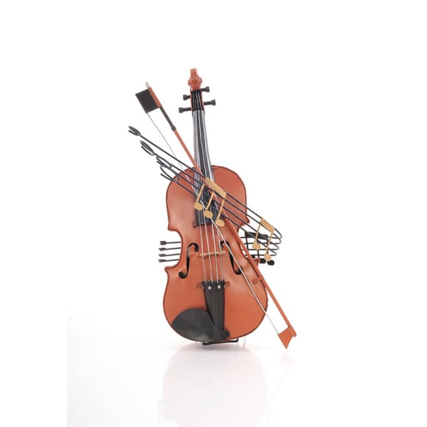 Orange Vintage Violin 1:2 Scale Model