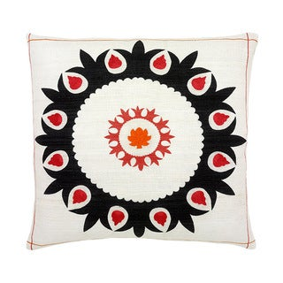Hand-woven 20 x 20-inch Red Fiji Throw Pillow