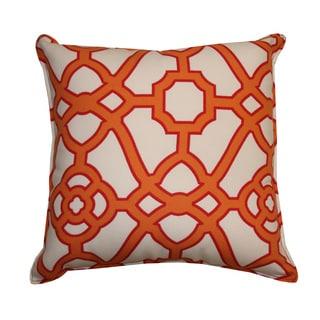 20 x 20-inch Octagon Orange Throw Pillow