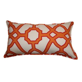 12 x 20-inch Octagon Orange Throw Pillow