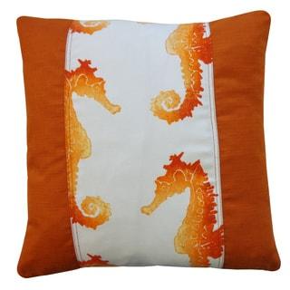 Caballo Pieces Orange Throw Pillow
