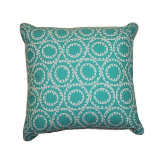 20 x 20-inch Dunkin Turquoise Throw Pillow