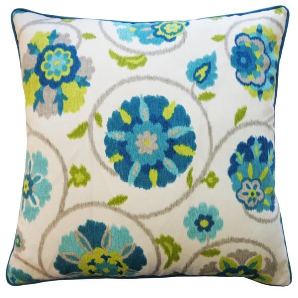 Fade Turquoise Throw Pillow