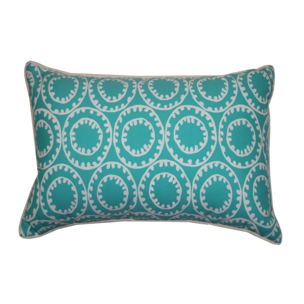 Dunkin Turquoise Throw Pillow