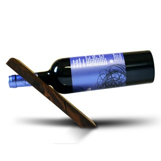 Handmade Balancing Knotty Alder Wood 1-bottle Wine Wedge