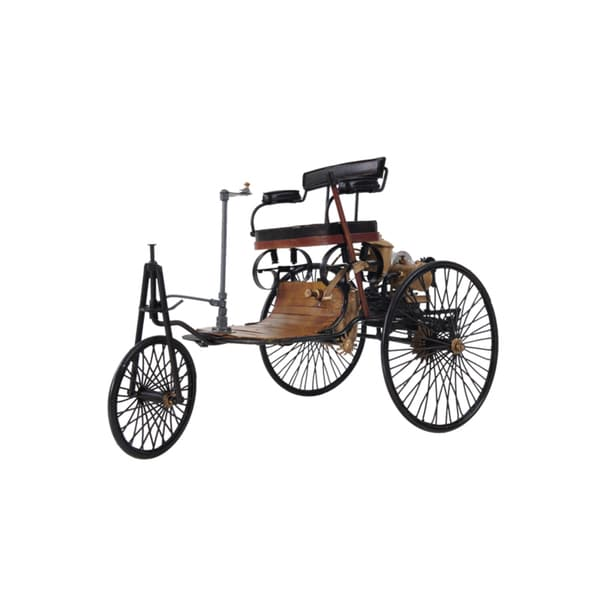 1886 Yellow/ Black Benz Model Car