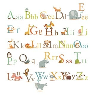 Peel & Stick Classic Animals Alphabet Wall Decal