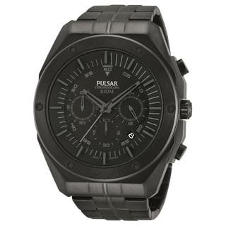 Pulsar Men's PT3521 Black Ion Chronograph Watch