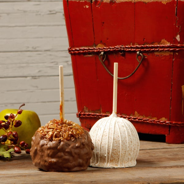 Aly's Apples Big Shots Extra Large Caramel Apples (Set of 2)