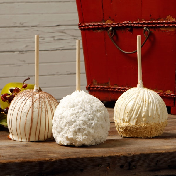 Aly's Apples Guilty Pleasure Extra Large Caramel Apples (Set of 3)