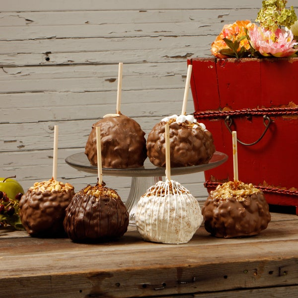 Aly's Apples Totally Nuts Extra Large Caramel Apples (Set of 6)