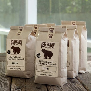 Bear Branch Milling Old-fashioned Stone-ground White Grits (Pack of 6)
