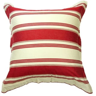 Canon Cotton Red Stripe Euro Sham